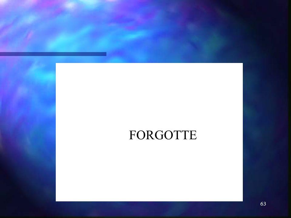 63 FORGOTTE