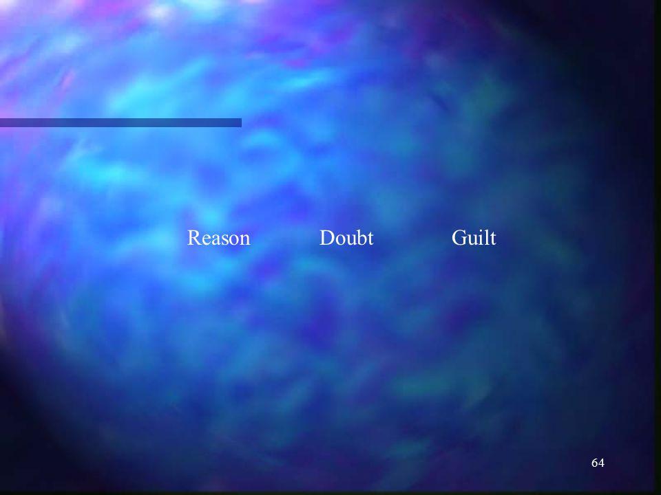 64 ReasonDoubtGuilt