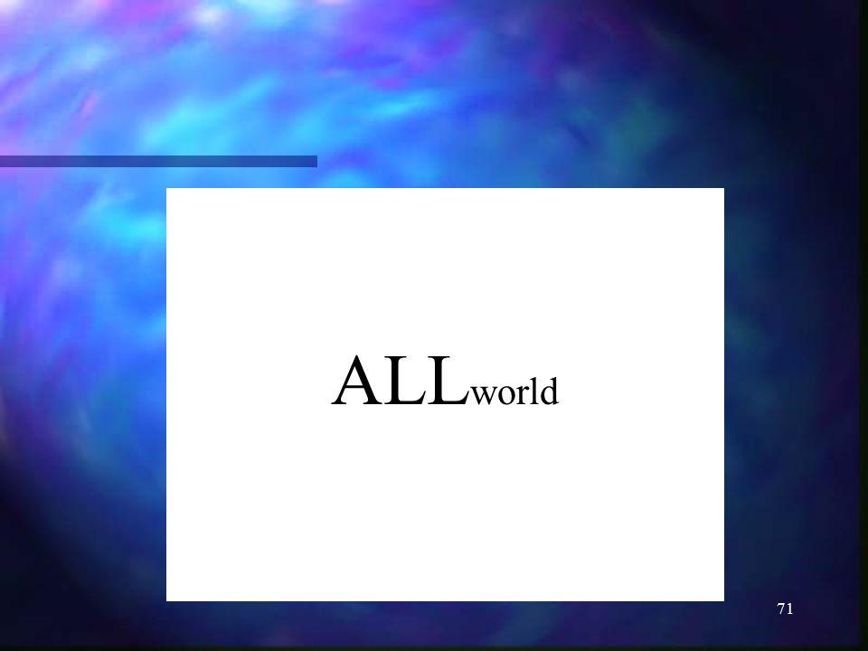 71 ALL world
