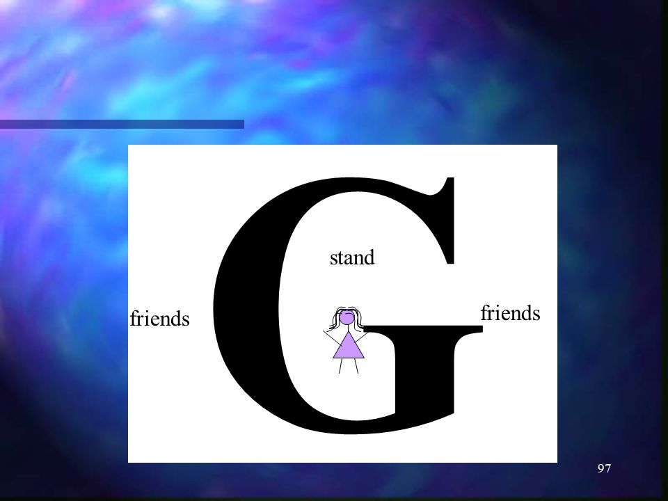 97 G stand friends