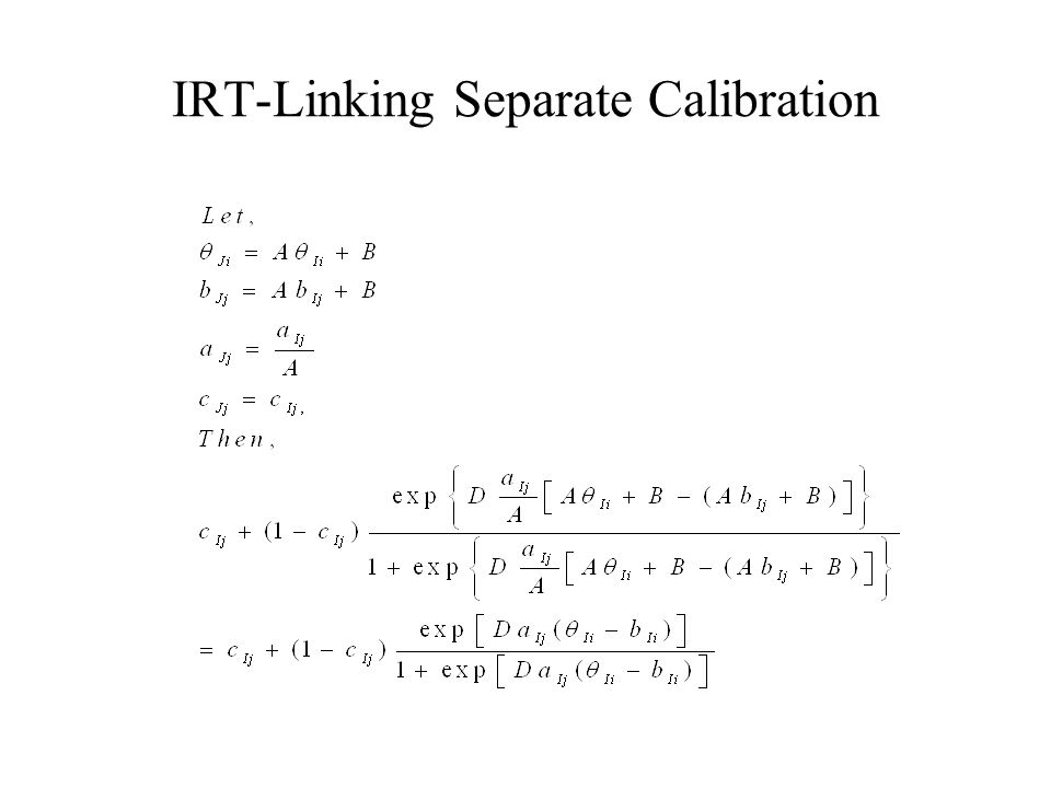 IRT-Linking Separate Calibration