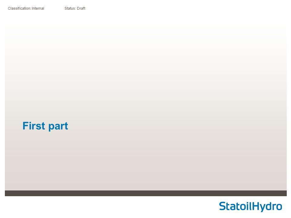 Classification: Internal Status: Draft First part