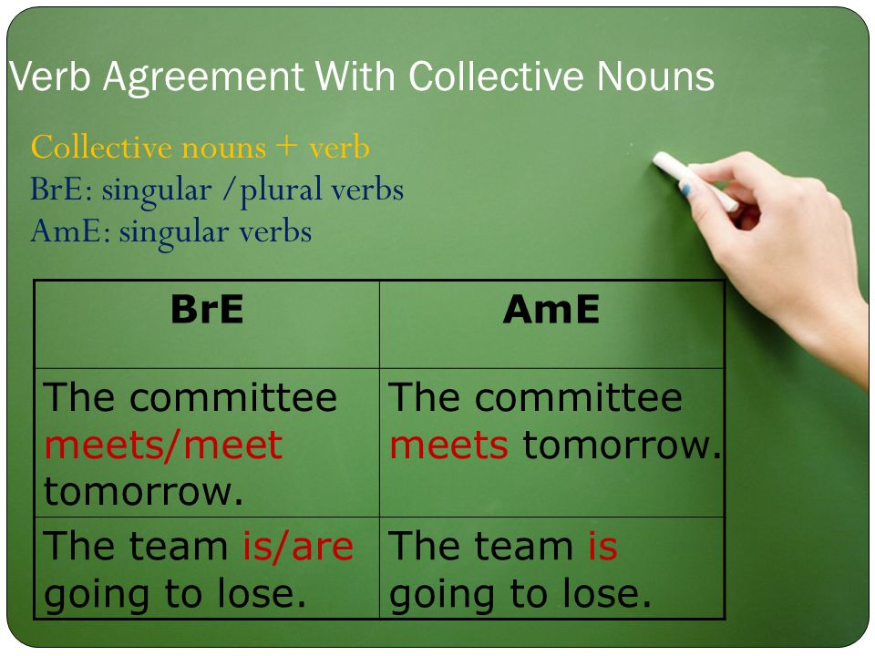 BrEAmE The committee meets/meet tomorrow. The committee meets tomorrow.