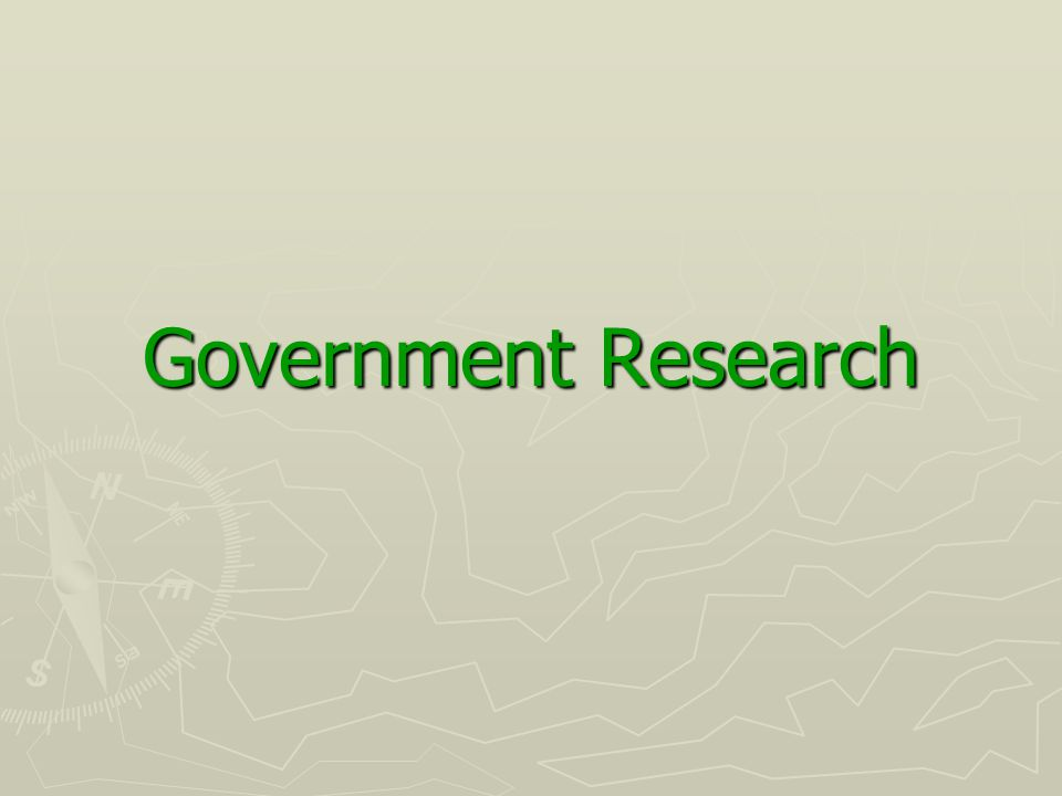 Government Research