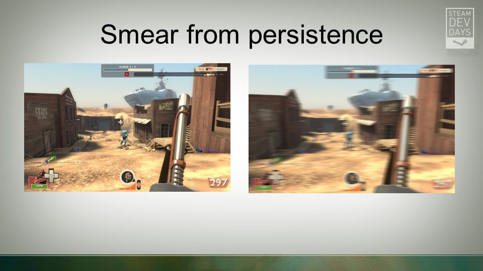 Smear from persistence
