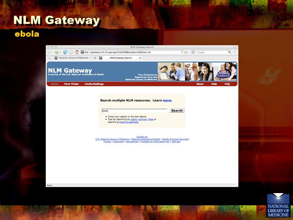 NLM Gateway ebola