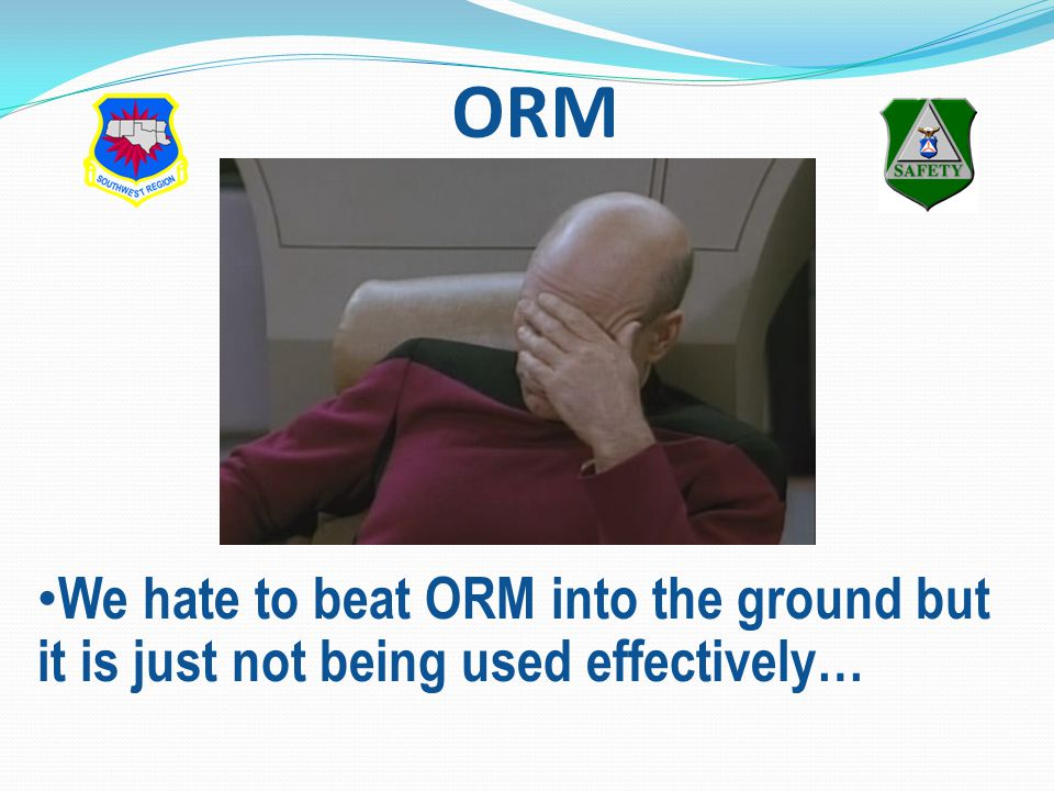 ORM We hate to beat ORM into the ground but it is just not being used effectively…