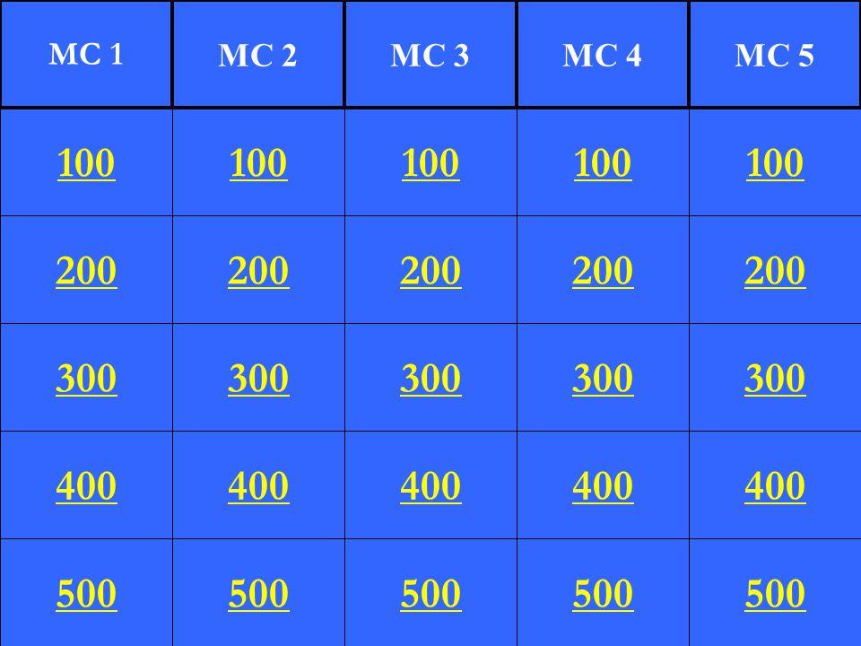 200 300 400 500 100 200 300 400 500 100 200 300 400 500 100 200 300 400 500 100 200 300 400 500 100 MC 1 MC 2MC 3MC 4MC 5