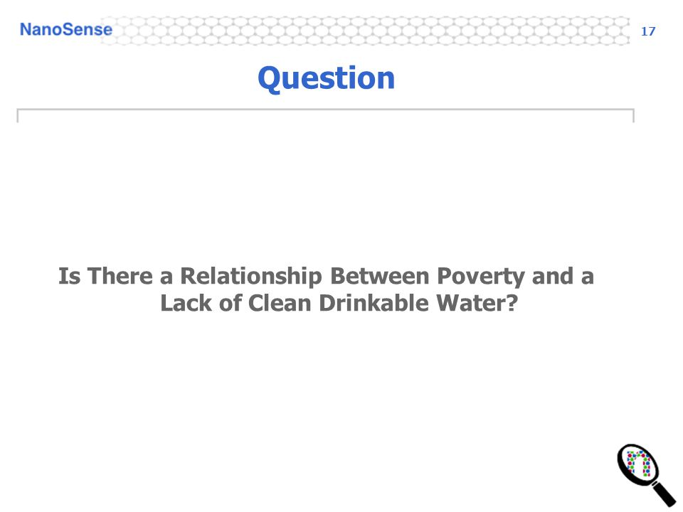 17 Question Is There a Relationship Between Poverty and a Lack of Clean Drinkable Water?