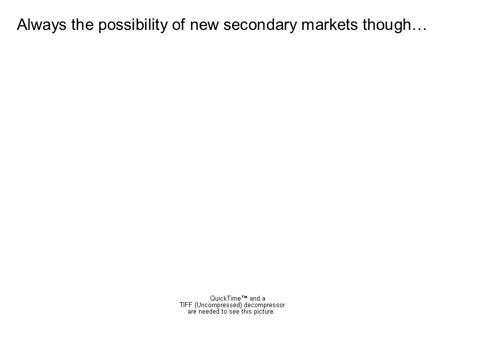Always the possibility of new secondary markets though…