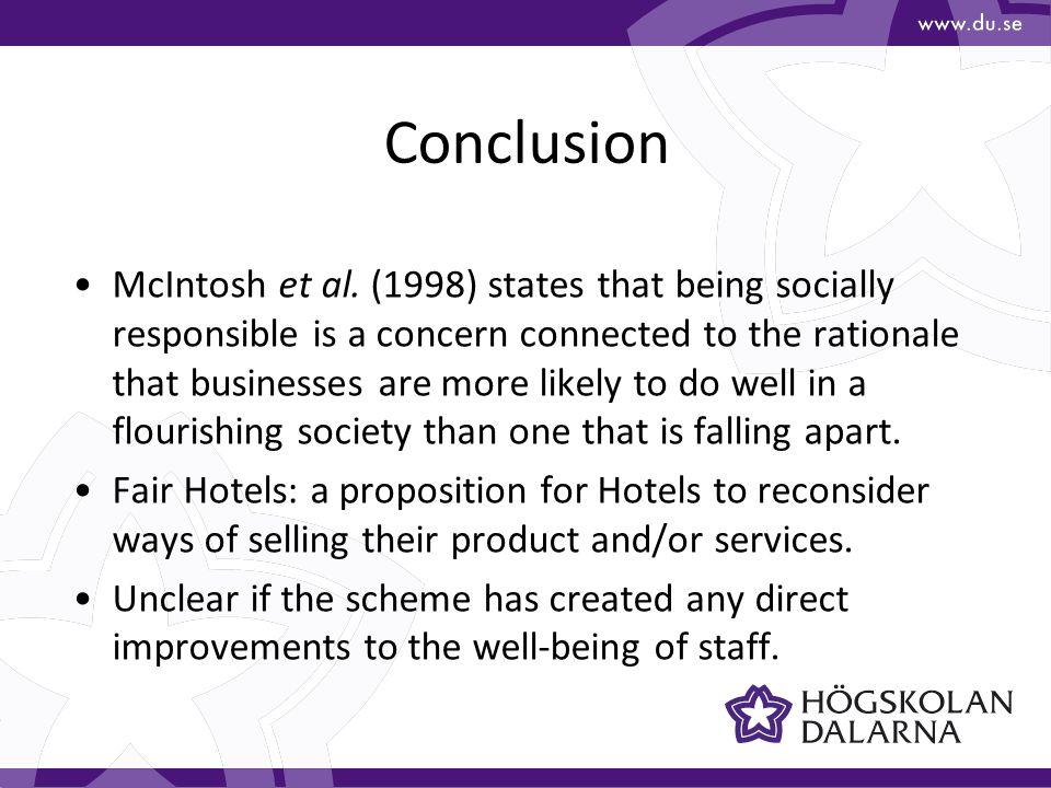 Conclusion McIntosh et al.