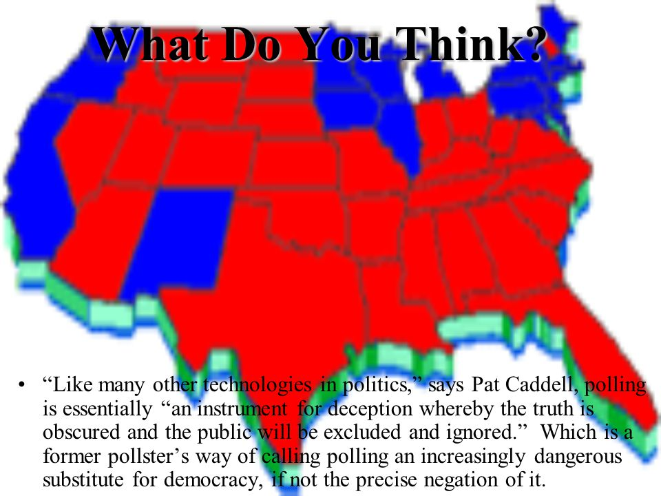 Meaning Define Polls, Not Numbers