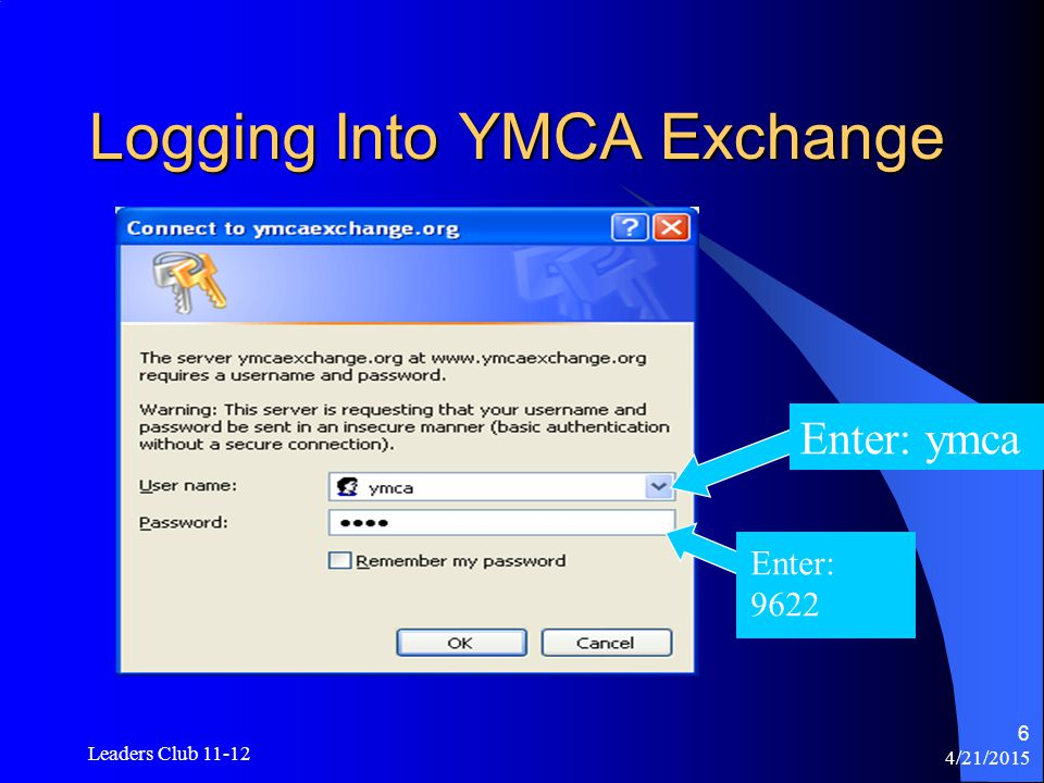 4/21/2015 Leaders Club 11-12 7 The Homepage The Homepage of the YMCA Exchange is where you will do most of your navigation when researching ideas for various programs.