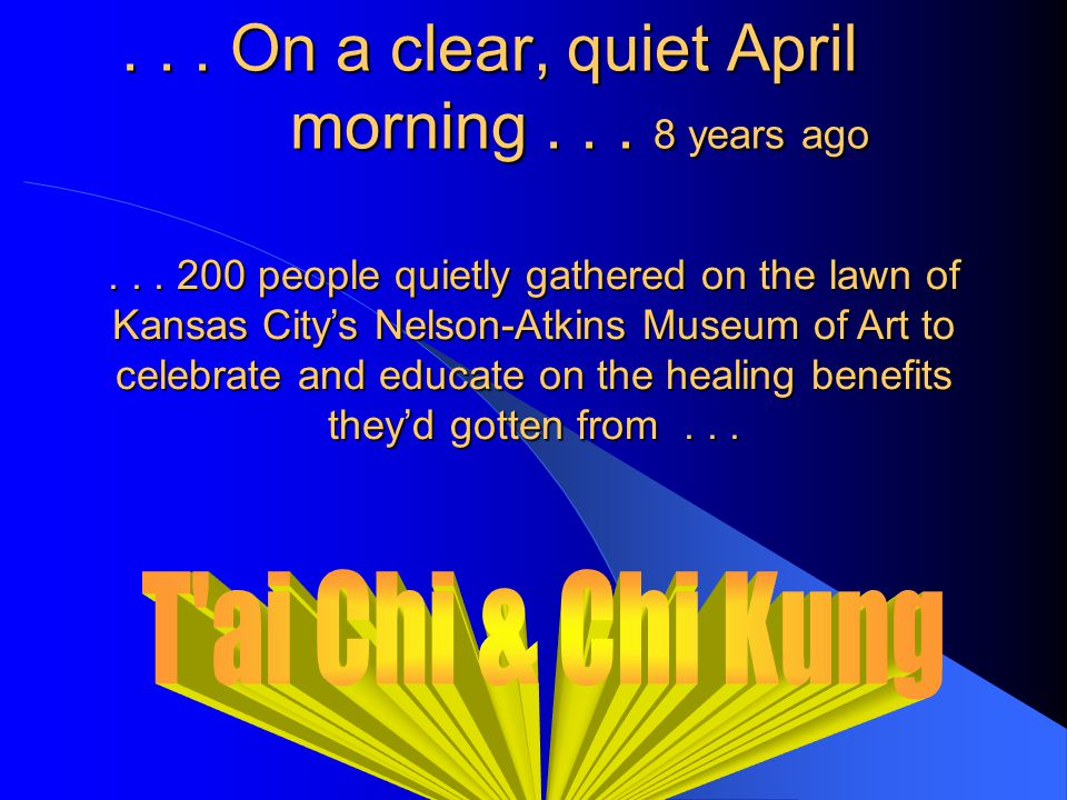 The History of an Unprecedented Health and Healing Event...