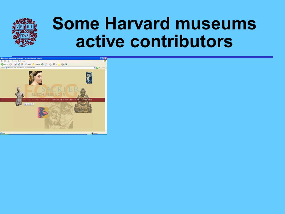 Some Harvard museums active contributors