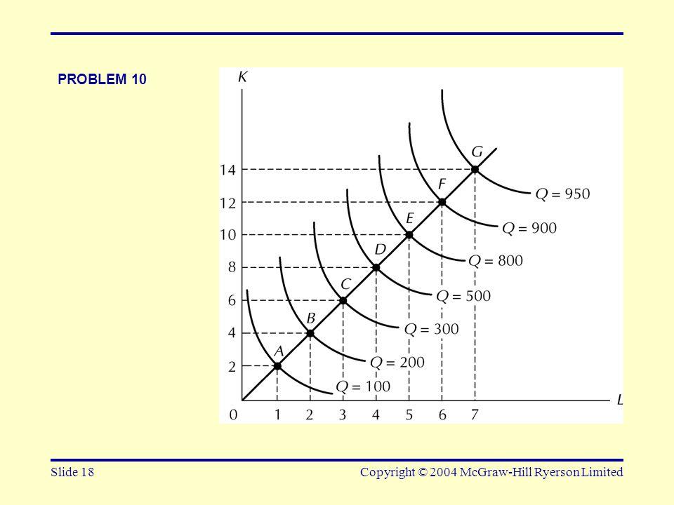Slide 18Copyright © 2004 McGraw-Hill Ryerson Limited PROBLEM 10