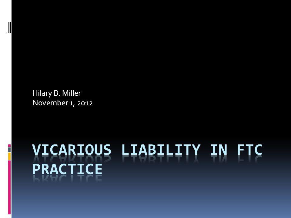 Hilary B. Miller November 1, 2012