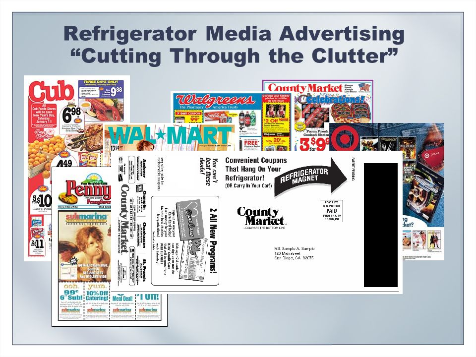 Refrigerator Media Advertising Cutting Through the Clutter