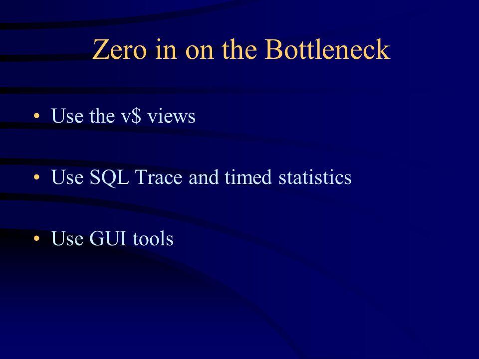SQL> SELECT sid, serial#, status, username, osuser, 2 module, action 3 FROM v$session; SID SERIAL# STATUS USERNAME OSUSER MODULE ACTION ---- ------- -------- -------- -------- -------- -------- 1 1 ACTIVE oracle 2 1 ACTIVE oracle 3 1 ACTIVE oracle 4 1 ACTIVE oracle 5 1 ACTIVE oracle 6 1 ACTIVE oracle 9 2041 INACTIVE GL swatkins 10 4284 INACTIVE APPLSYS applmgr 62 7219 ACTIVE RSCHRAG rschrag SQL*Plus 63 7394 INACTIVE FA rschrag SQL*Plus Start SQL*Plus and Identify the Database Session