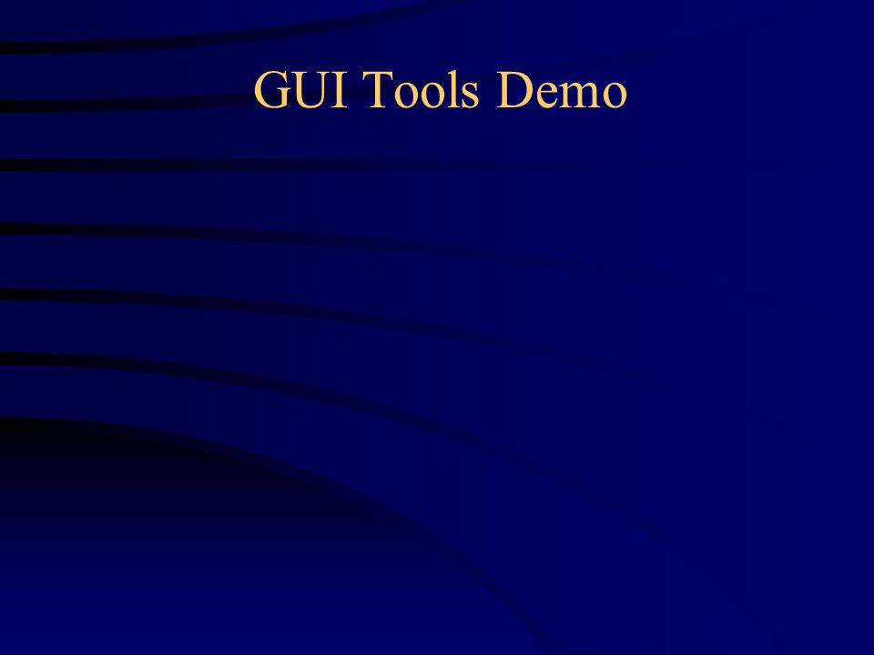 GUI Tools Demo