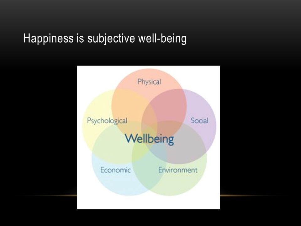 Happiness is subjective well-being