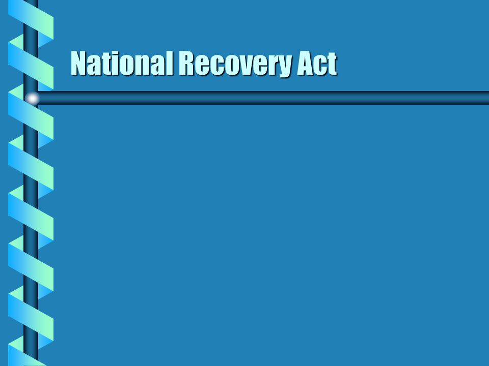 National Recovery Act