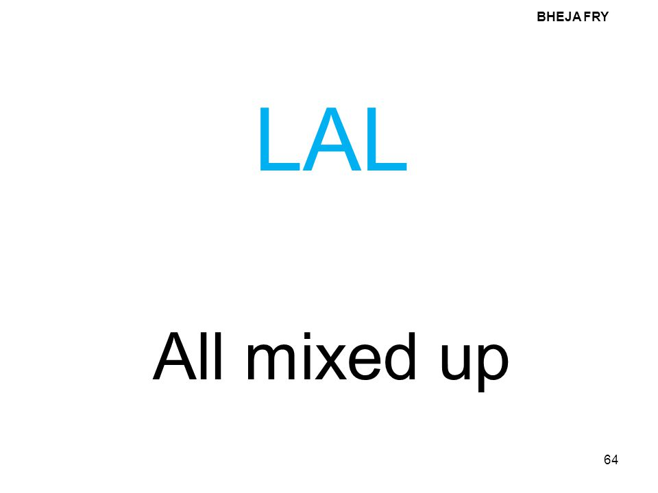 BHEJA FRY 64 LAL All mixed up