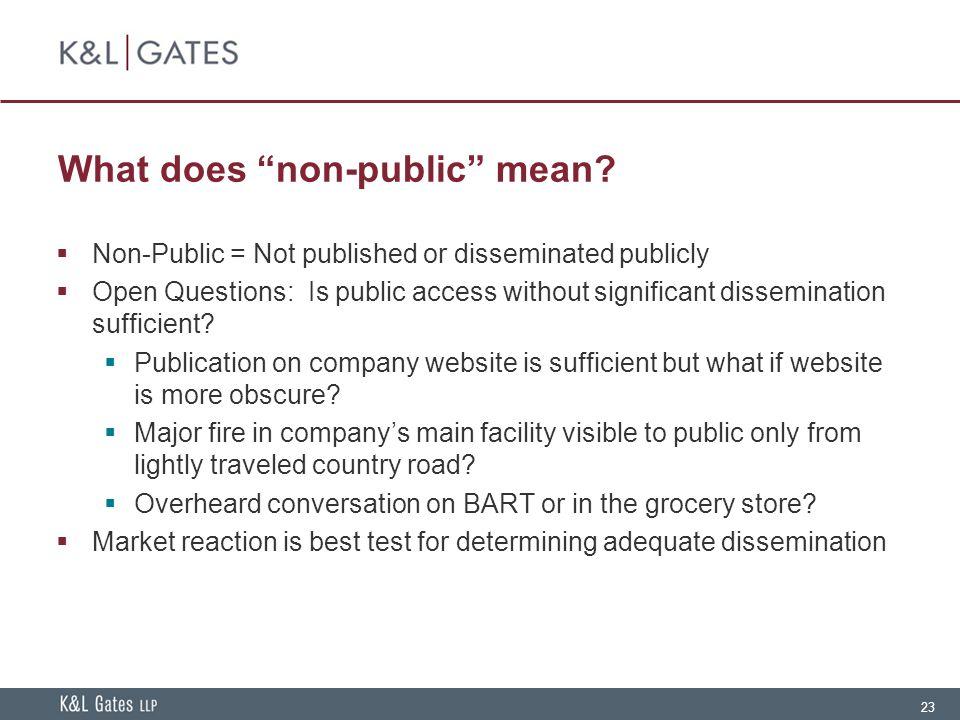 23 What does non-public mean.