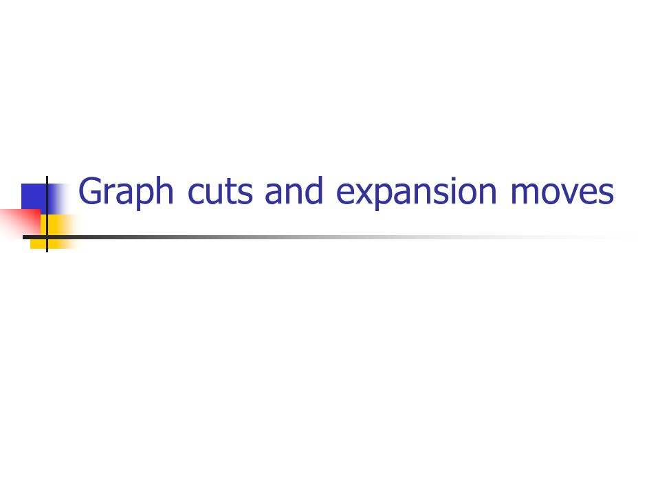 Graph cuts and expansion moves