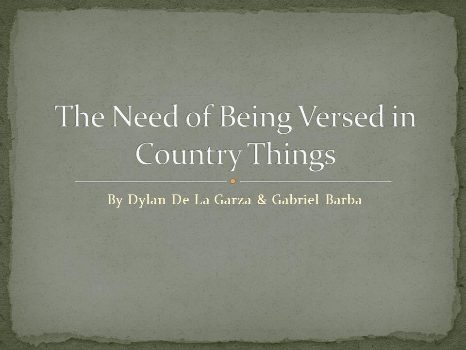 By Dylan De La Garza & Gabriel Barba