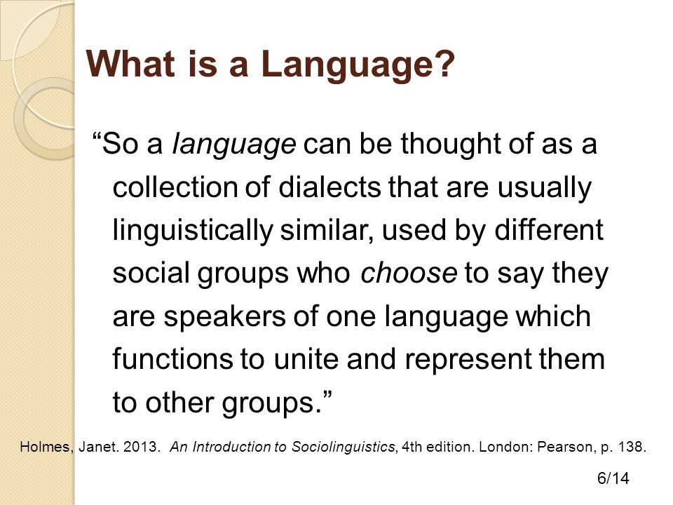 What is a Language.