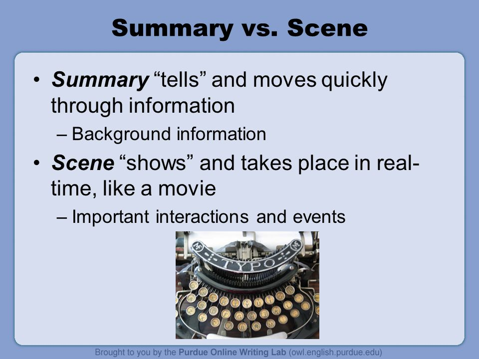 Summary vs.