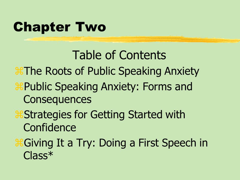 Giving it a Try: Outline the Speech Introduction Purpose statement I.
