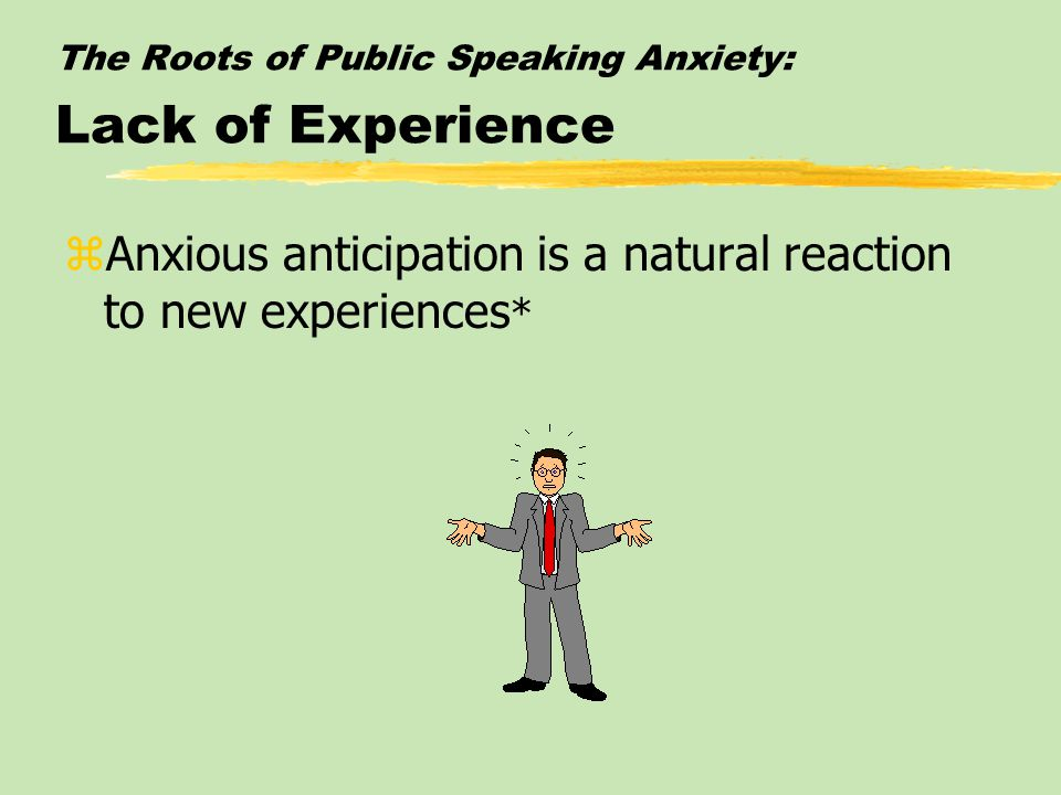 Public Speaking Anxiety: Consequences of Public Speaking Anxiety zThe consequences of public speaking anxiety can include everything from procrastination to poor speech performance*