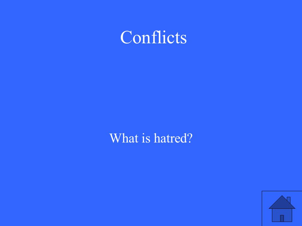 Conflicts What is hatred