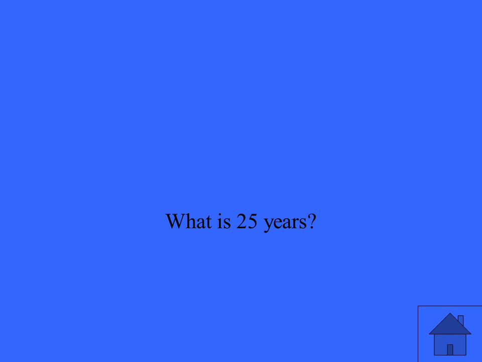 What is 25 years