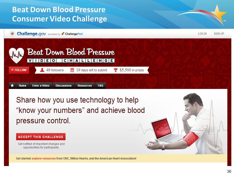 36 Beat Down Blood Pressure Consumer Video Challenge