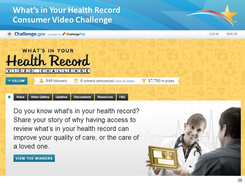 38 What's in Your Health Record Consumer Video Challenge