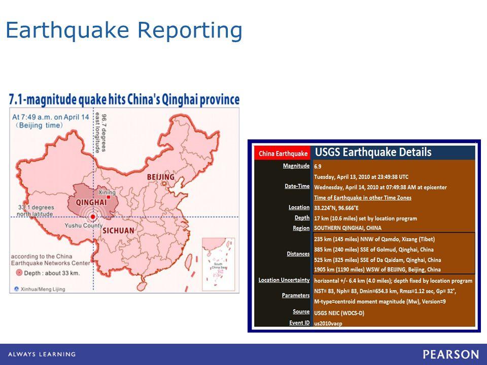 Earthquake Reporting