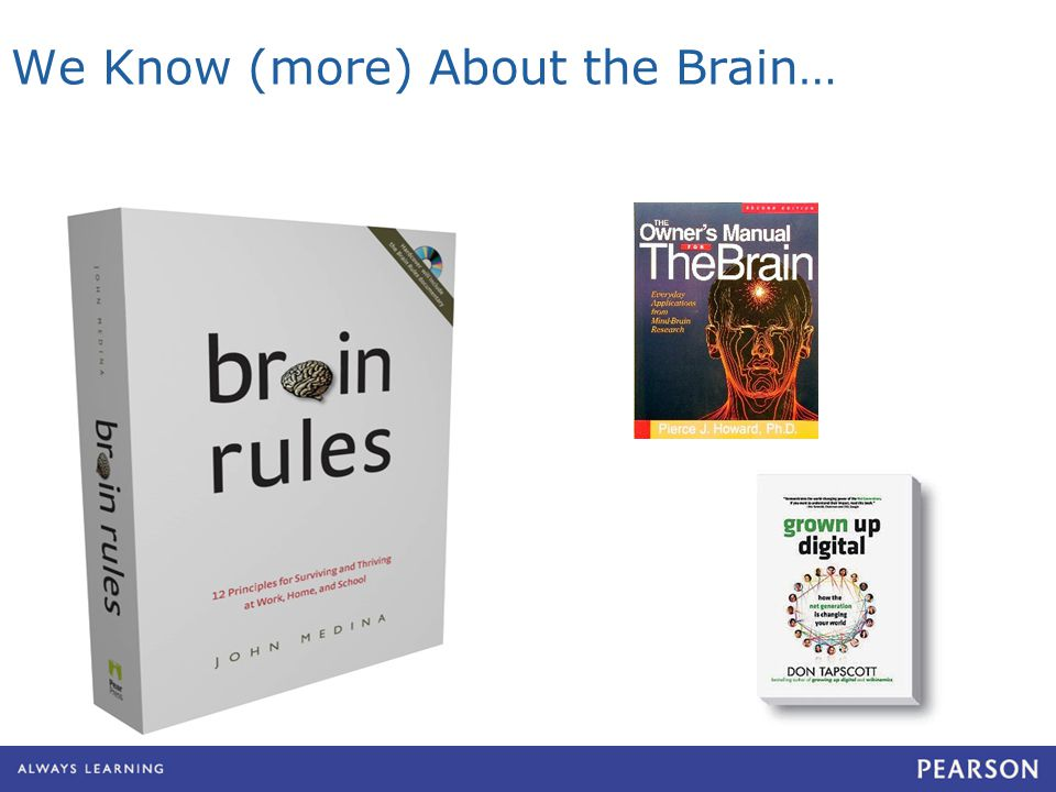 We Know (more) About the Brain…