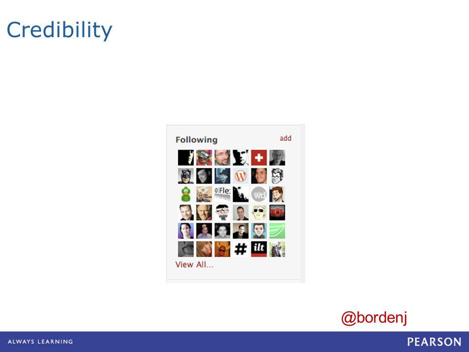 Credibility @bordenj