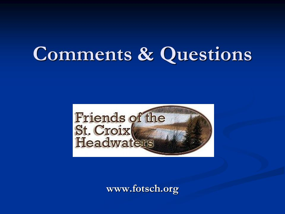 Comments & Questions www.fotsch.org