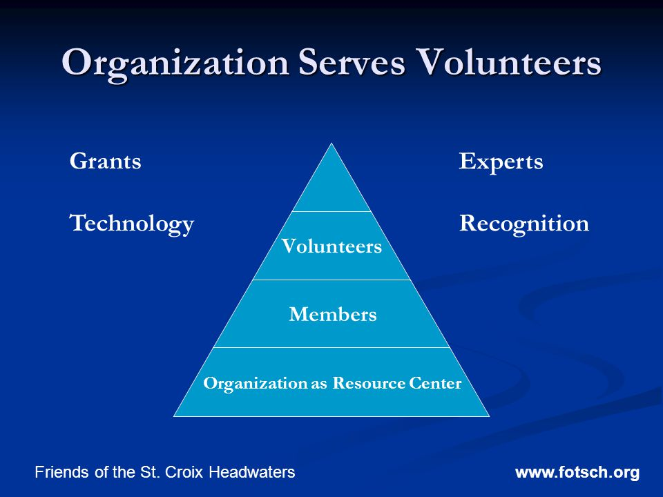 Organization Serves Volunteers www.fotsch.orgFriends of the St.