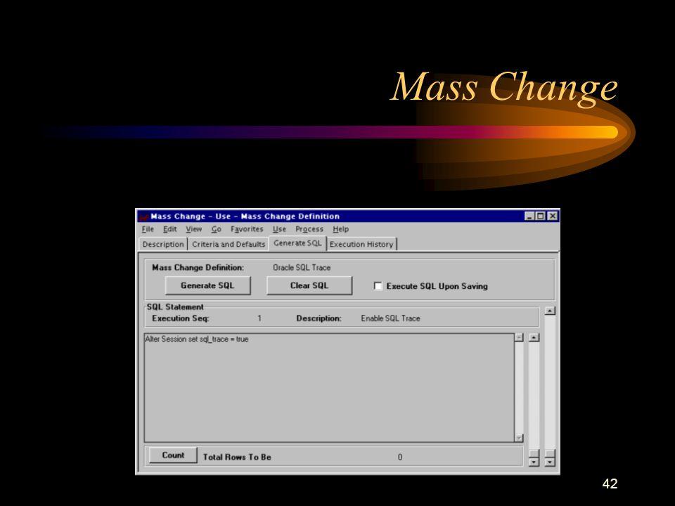 42 Mass Change