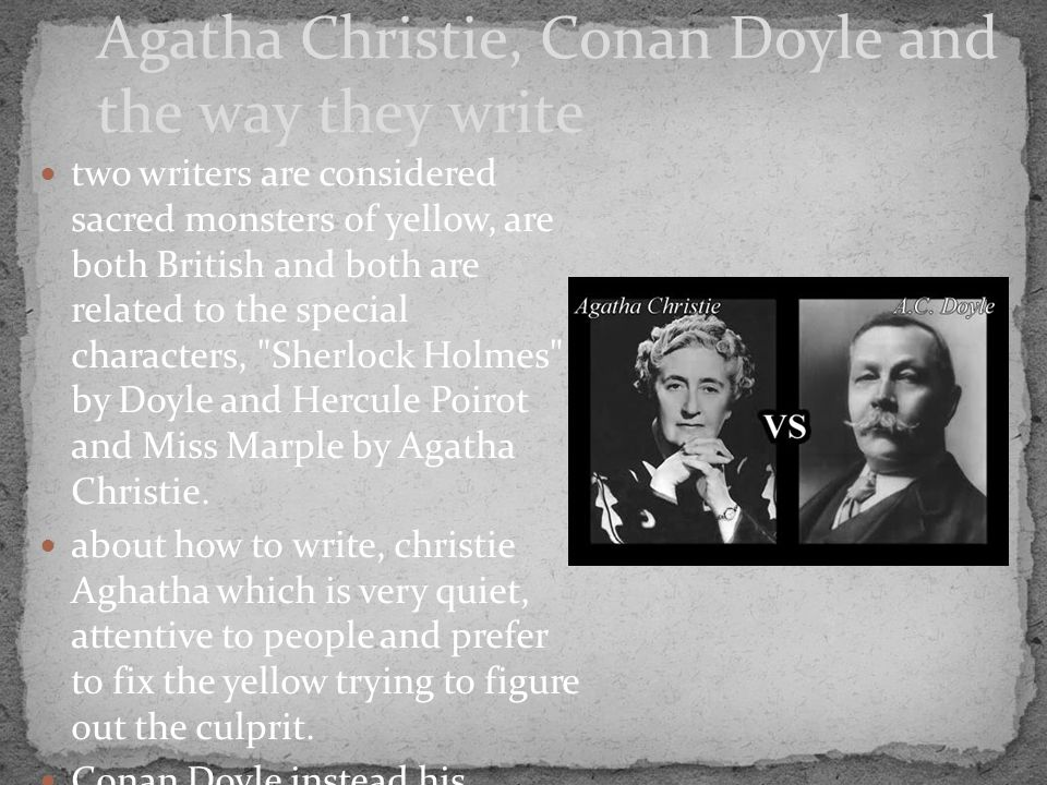 two writers are considered sacred monsters of yellow, are both British and both are related to the special characters,