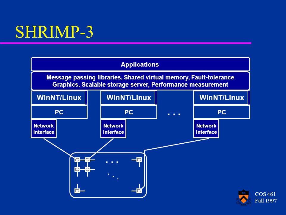 COS 461 Fall 1997 SHRIMP-3...