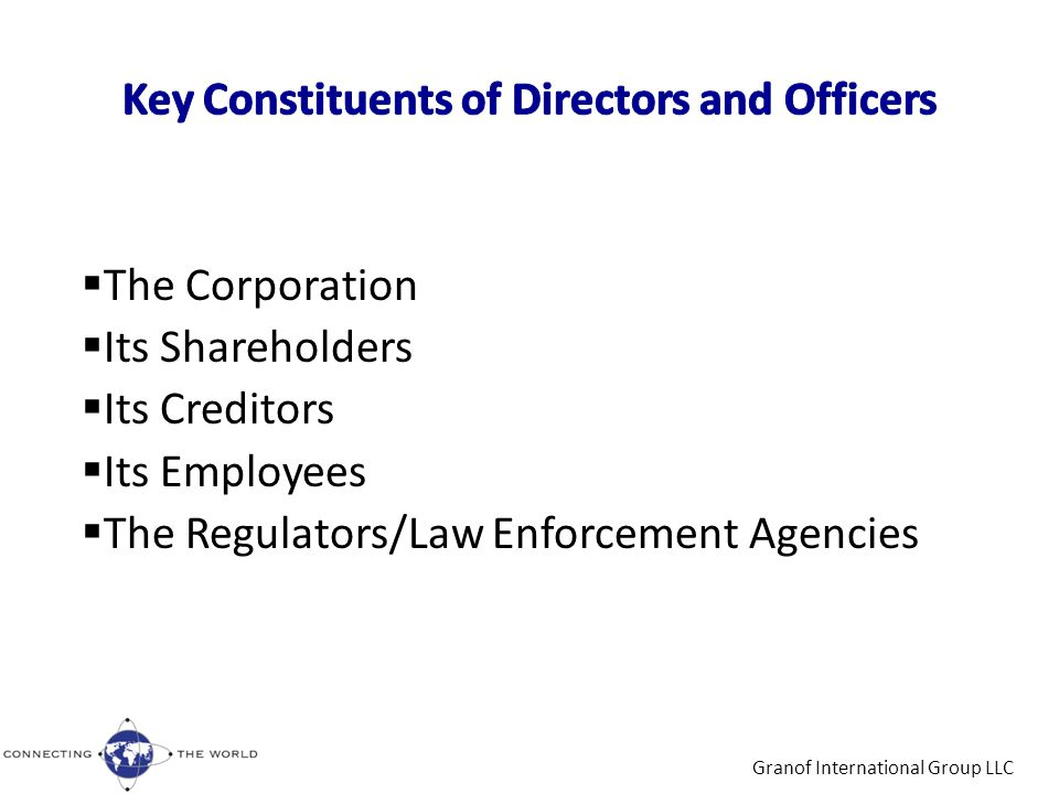 Law Enforcement and Regulatory Actions Against D&O's – Foreign Corrupt Practices Act (FCPA) Siemens agreed to pay the SEC US $800 million to settle FCPA – related charges (Dec 15, 2008), the largest settlement ever Johnson & Johnson agreed to pay the SEC more than US $70 million to settle FCPA - related allegations (April 8, 2011) (FCPA Professor's Blog) – Insider Trading In the past 18 months alone, the U.S.