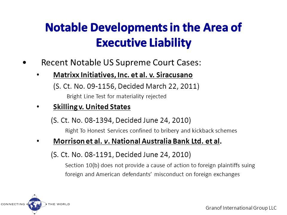 Responses to: Morrison et al.v. National Australia Bank Ltd.