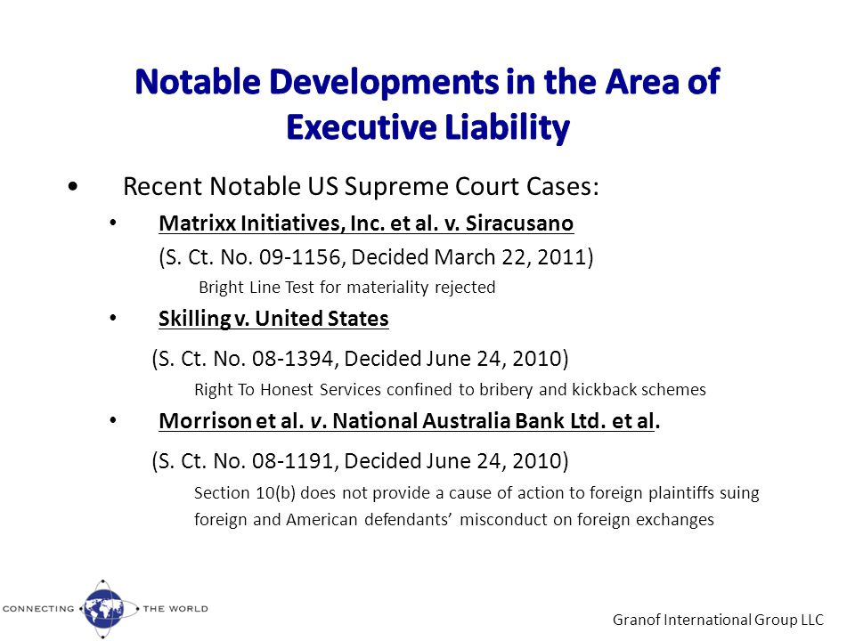 Recent Notable US Supreme Court Cases: Matrixx Initiatives, Inc.