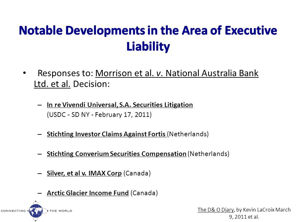 Responses to: Morrison et al. v. National Australia Bank Ltd.
